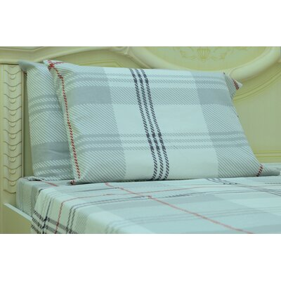 Myaa Plaid & Check 190 Thread Count 100% Cotton Sheet Set