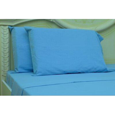 Islas 190 Thread Count 100% Cotton Sheet Set Color: Sky Blue