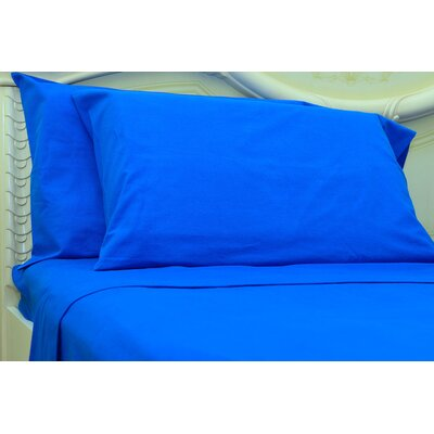Islas 190 Thread Count 100% Cotton Sheet Set Color: Classic Blue