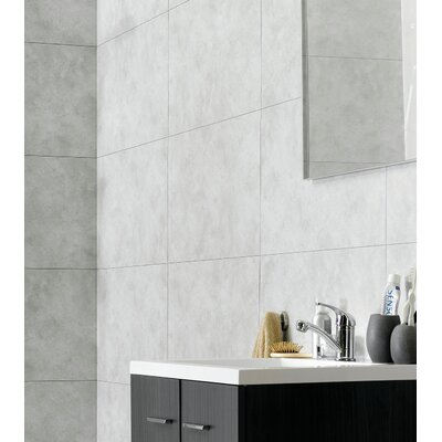 25.59 x 14.76 Vinyl Tile in Rain Cloud