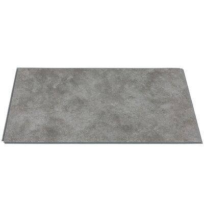25.59 x 14.76 Vinyl Tile in Smoked Steel