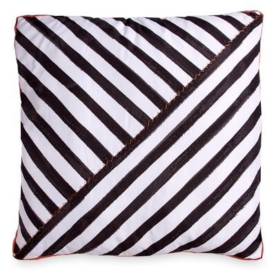 Frizzell Striped Throw Pillow Color: Black