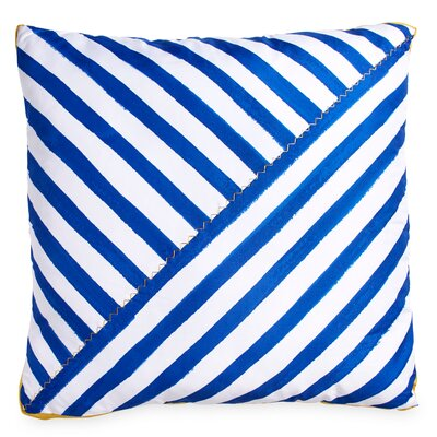 Frizzell Striped Throw Pillow Color: Blue