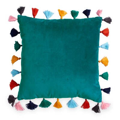 Westcliff Tassel Throw Pillow Color: Teal