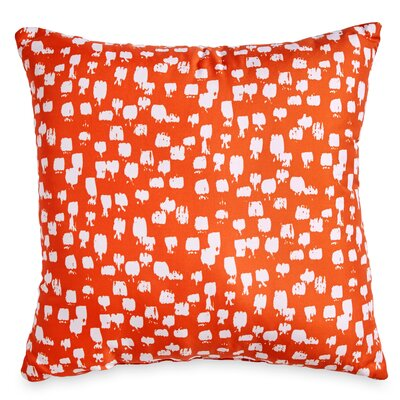 Houchens Paint Brush Throw Pillow Color: Orange