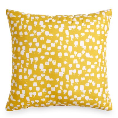 Houchens Paint Brush Throw Pillow Color: Yellow