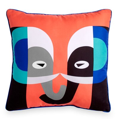 Houchin Elephant Throw Pillow