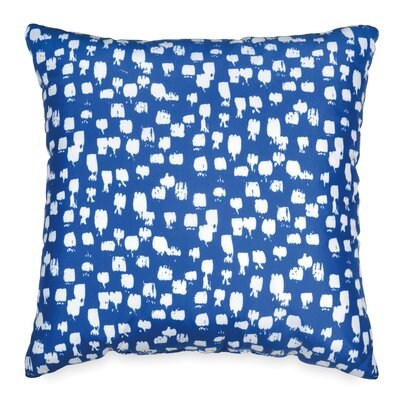 Houchens Paint Brush Throw Pillow Color: Navy