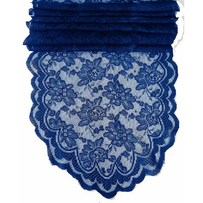 Fraser Lace Table Runner Color: Navy