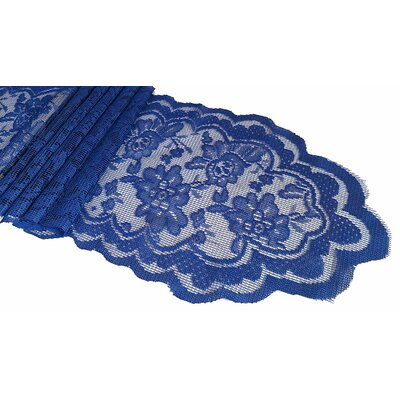 Franklin Lace Sash Table Runner Color: Navy