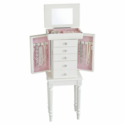 Sonia Jewelry Armoire with Mirror