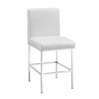 Clarey 24 Bar Stool Upholstery: White