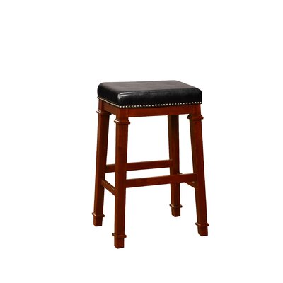 Greenleaf Bar Stool Color: Black