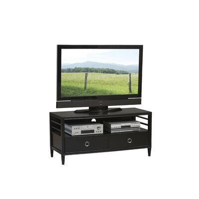 Cheap Linon East End Avenue 50″ TV Stand in Black and Chrome (LQ1729)