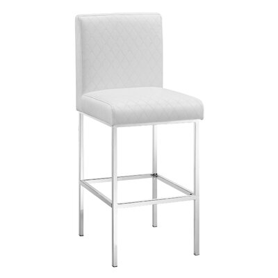 Clarey 30 Bar Stool Upholstery: White
