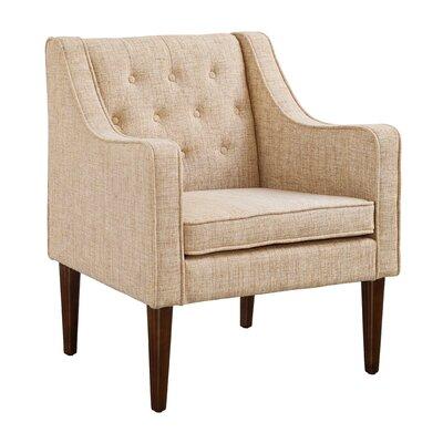 Zaftig Tufted Back Arm Chair Upholstery: Gray