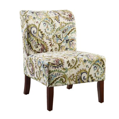 Willimantic Floral Curved Back Slipper Chair