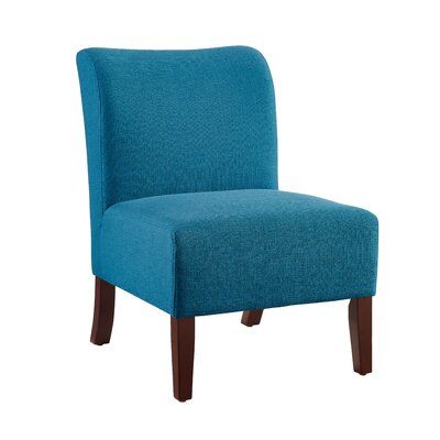 Willimantic Curved Back Slipper Chair Upholstery: Blue