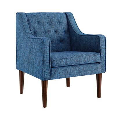 Zaftig Tufted Back Arm Chair Upholstery: Dark Blue