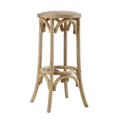 Charmayne Rattan Seat Backless 30 Bar Stool
