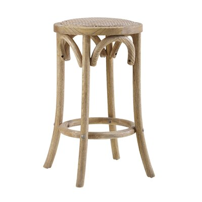 Charmayne Rattan Seat Backless 24 Stool