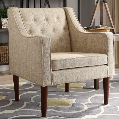 Zaftig Tufted Back Arm Chair Upholstery: Beige