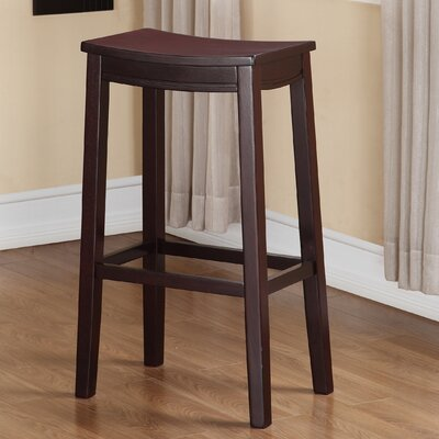 Brittani Wooden Saddle 30 Bar Stool