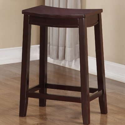 Brittani Wooden Saddle 24 Bar Stool