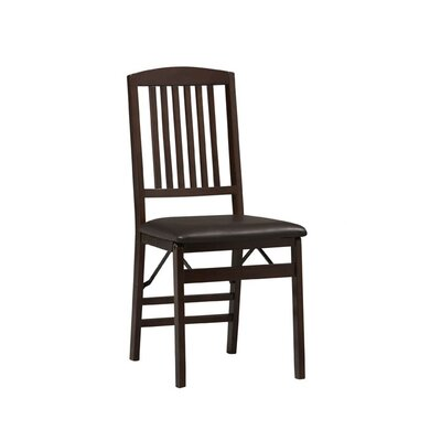 Triena Mission Bank Folding Chair (Set of 4)