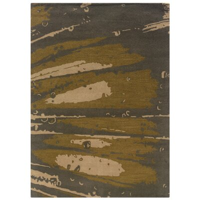 Florence Hand-Tufted Slate/Olive Area Rug Rug Size: 110 x 210
