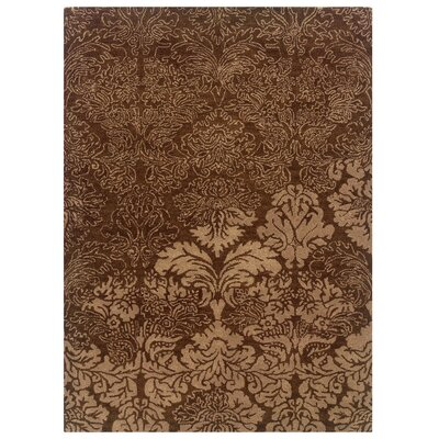 Florence Hand-Tufted Brown Area Rug Rug Size: 110 x 210