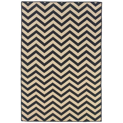 Salonika Chevron Hand-Woven Gray/Cream Area Rug