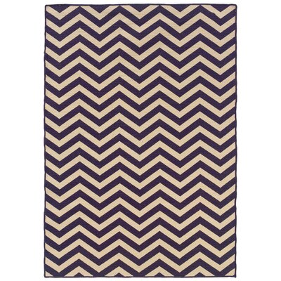 Salonika Chevron Hand-Woven Purple Area Rug