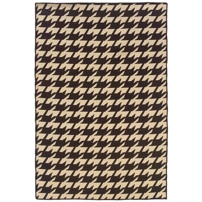 Salonika Brown/Cream Houndstooth Rug