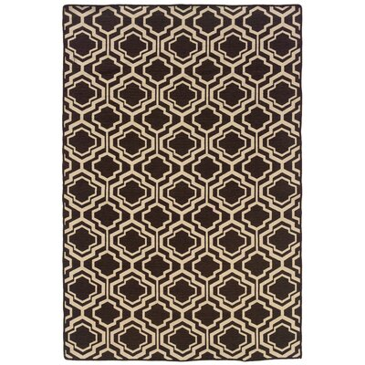Salonika Quatrefoil Hand-Woven Brown Area Rug