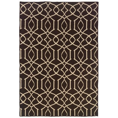 Salonika Iron Gate Hand-Woven Brown Area Rug