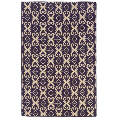 Salonika Ikat Hand-Woven Purple Area Rug
