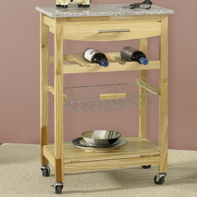 Linon Ledgeview Kitchen Cart with Granite Top - Base Finish: Natural at Sears.com