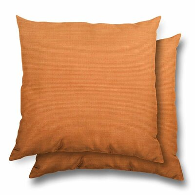 Huntington Eco Friendly Outdoor/Indoor Throw Pillow Color: Tangerine