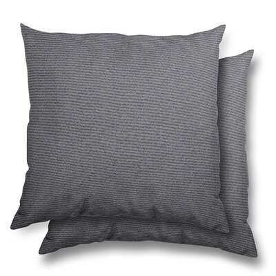 Huntington Eco Friendly Outdoor/Indoor Throw Pillow Color: Charcoal