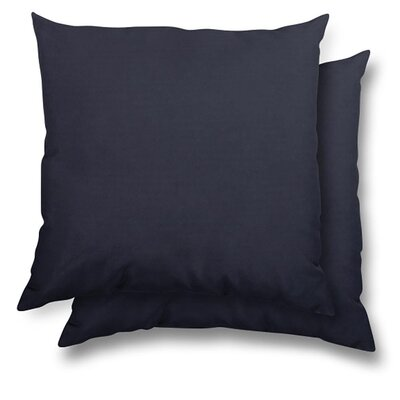 Huntington Eco Friendly Outdoor/Indoor Throw Pillow Color: Navy