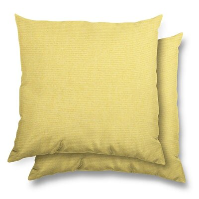 Huntington Eco Friendly Outdoor/Indoor Throw Pillow Color: Buttercup