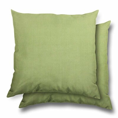 Huntington Eco Friendly Outdoor/Indoor Throw Pillow Color: Parrot