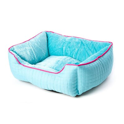 Katheryn Stratford Bolster Dog Bed Color: Aqua Blue/Pink
