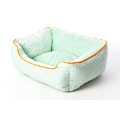 Katheryn Stratford Bolster Dog Bed Color: Celery Green/Orange