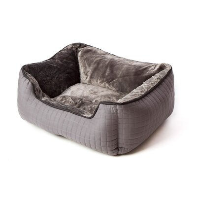 Katheryn Stratford Bolster Dog Bed Color: Charcoal Gray/Black