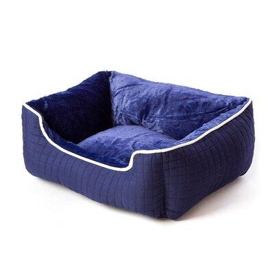 Katheryn Stratford Bolster Dog Bed Color: Indigo Blue Ivory/White