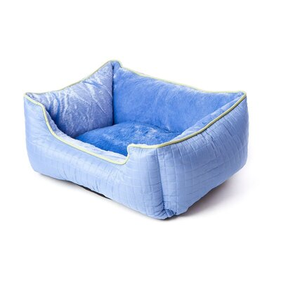Katheryn Stratford Bolster Dog Bed Color: Periwinkle Blue/Green