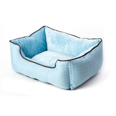 Stratford Bolster Dog Bed Color: Spa Blue/Chocolate Brown