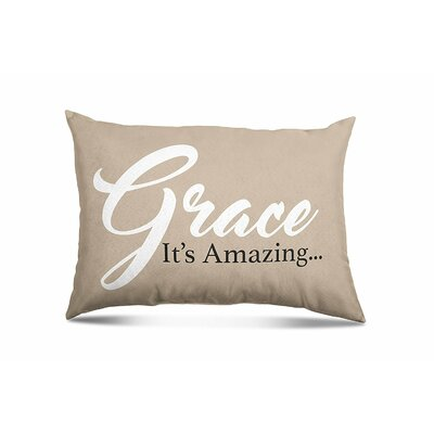 Mbolu Grace Its Amazing Eco-Friendly Religious Quotes and Sayings Lumbar Pillow